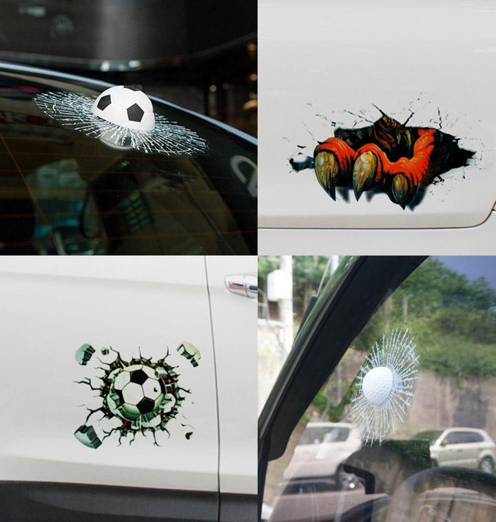 [자동차용품] 생동감 넘치는 차량용 3D 스티커