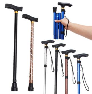 간편한 휴대용 접이식 지팡이 모음