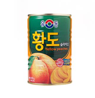 [슈퍼마트]유동 황도슬라이스 400g