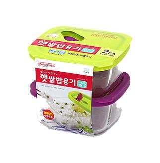 [슈퍼마트]락앤락 글라스 햇쌀밥용기 410ml 2p
