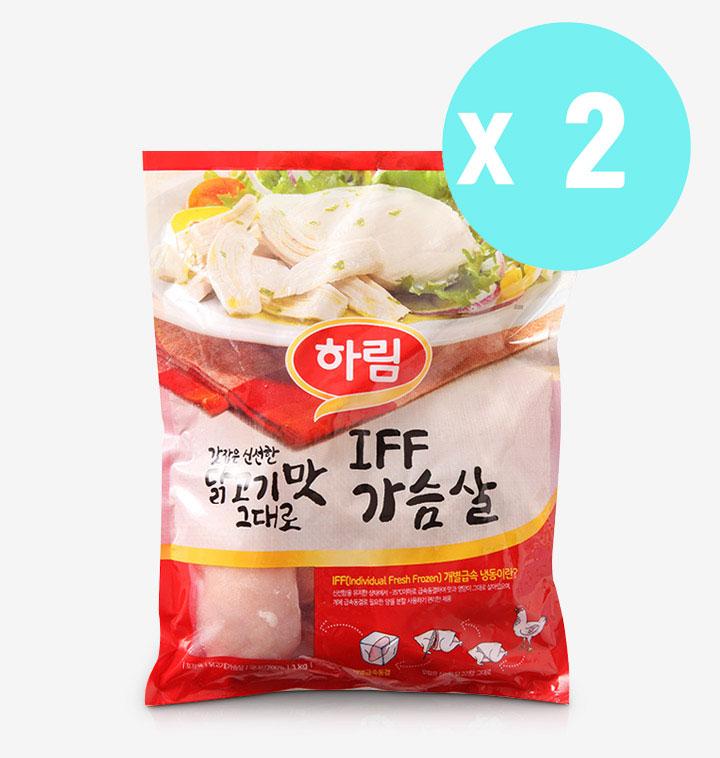 [슈퍼마트]하림 가슴살 1kg 2봉