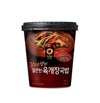 [슈퍼마트]청정원얼큰한육개장국밥 91g