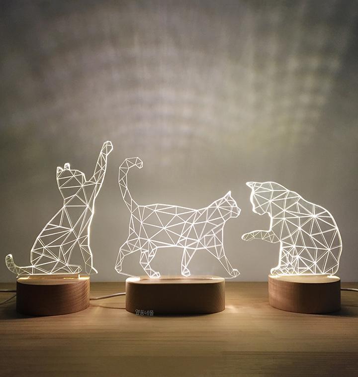 고양이 LED 램프