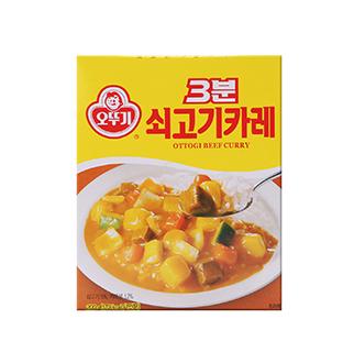[슈퍼마트] 오뚜기 3분 쇠고기카레 *3