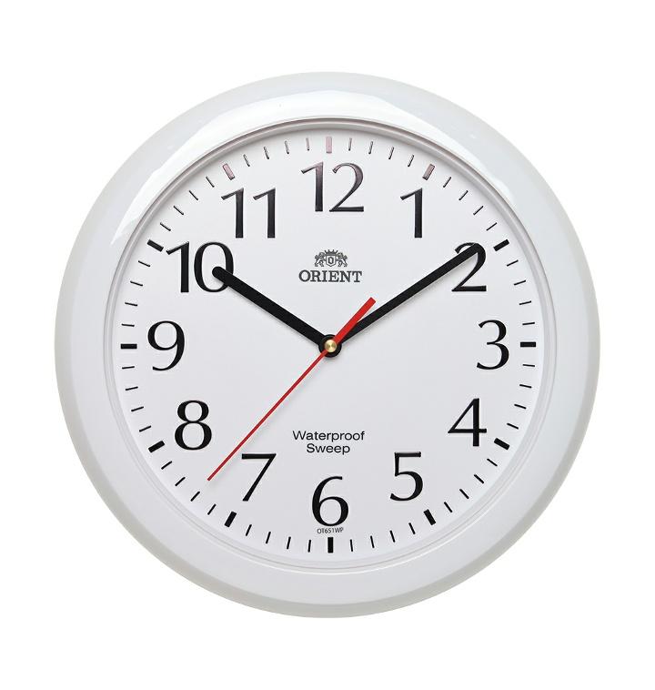 (제조사직영/무료배송)[오리엔트](OT651WPW)무소음 방수 인테리어벽시계 30cm