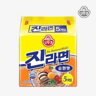 [슈퍼마트] 오뚜기 진라면 순한맛 120g*5입