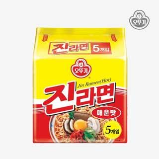 [슈퍼마트]진라면 매운맛 120g*5입