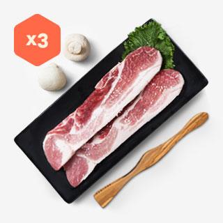 [슈퍼마트] 냉동 삼겹살 500g *3팩 (구이용)