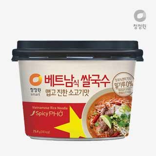 [슈퍼마트]청정원 베트남쌀국수 맵고진한 소고기맛 75.4g