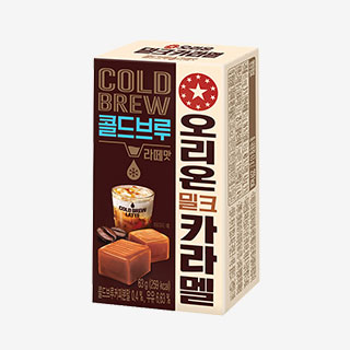 [슈퍼마트]오리온 밀크카라멜 콜드브루라떼맛 63g*3