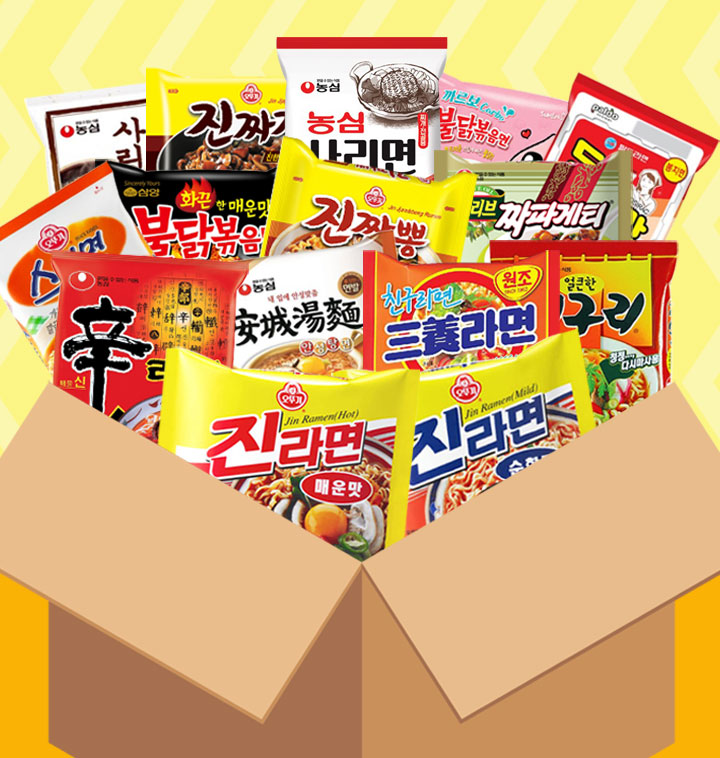 봉지라면 40봉 BOX구성