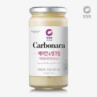 [슈퍼마트]청정원 베이컨&생크림 까르보나라 파스타소스 350g