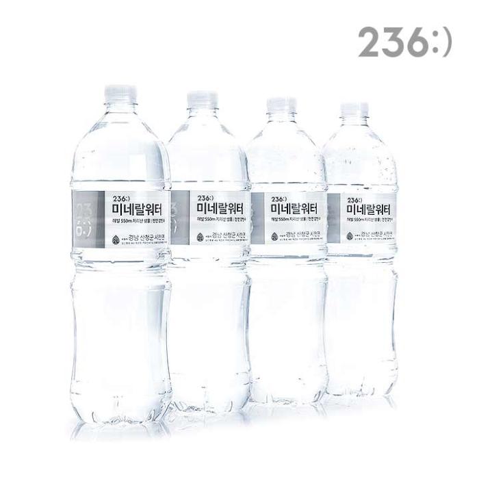 [슈퍼마트][티몬 단독] 236 미네랄워터 2L x 12병