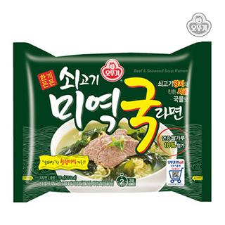 [슈퍼마트] 오뚜기 쇠고기 미역국 라면 115gX4입
